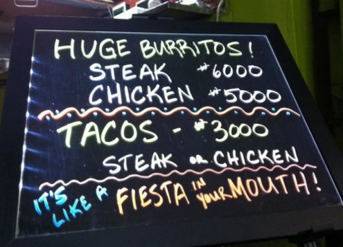 Fiesta in your mouth!