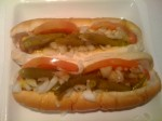 The closest thing you'll find to Chicago-style hotdogs this side of the Pacific, and of course I had to make them myself