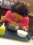 Watching this old lady slurp noodles got me so hot I just had to take a picture