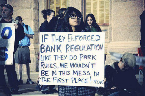 """If they enforced bank regulation like they do park rules we wouldn't be in this mess in the first place"""