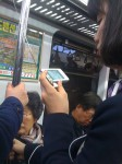 Cell phones... even ones that double as TVs... work on the subway pretty much no matter where you are